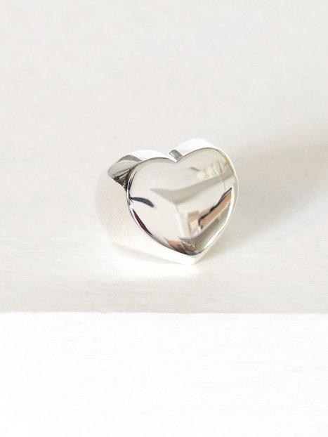 Billede af Blue Billie Heart Ring Ring Sølv
