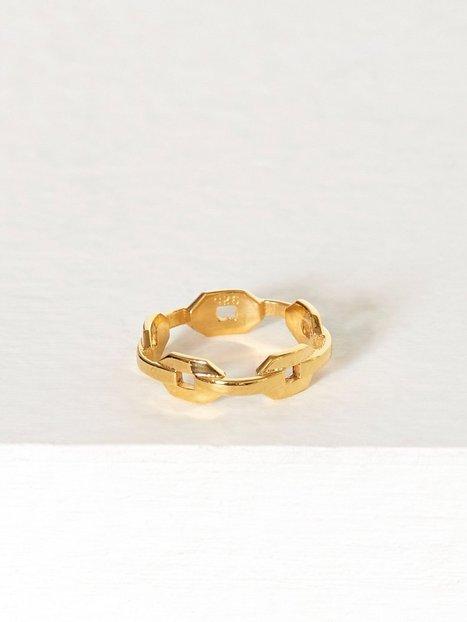 Billede af Blue Billie Chain Ring Ring Guld