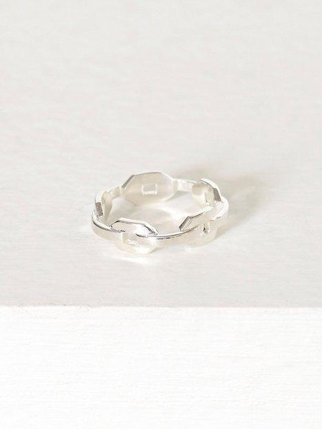 Billede af Blue Billie Chain Ring Ring Sølv