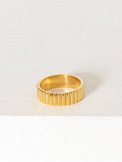 Billede af Blue Billie Pyramide Ring Ring Guld