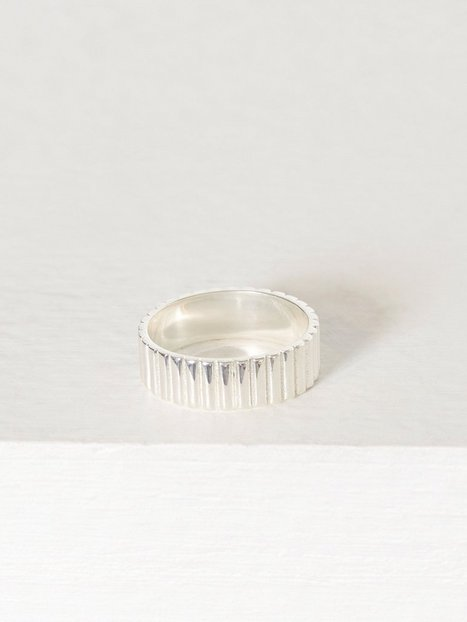Billede af Blue Billie Pyramide Ring Ring Sølv