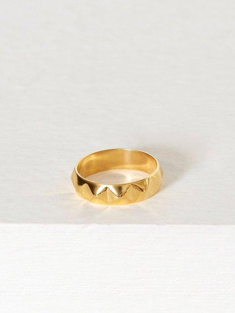 Billede af Blue Billie Stud Ring Ring Guld