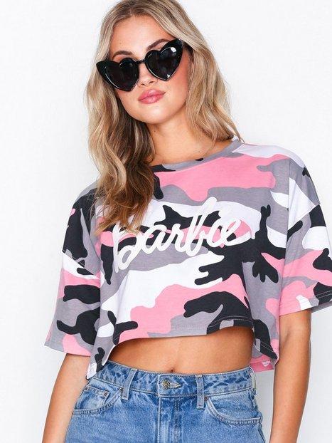 Billede af Missguided Barbie Camo Crop T-shirt T-shirt Pink