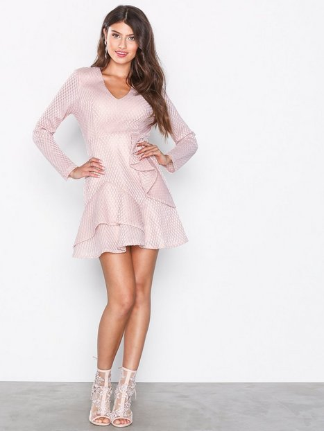 Plunge Ruffle Skater Dress