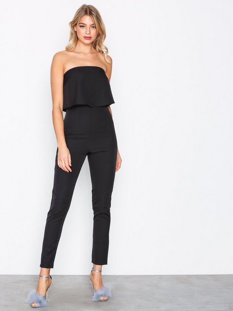 Billede af Missguided Bandeau Double Layer Jumpsuit Jumpsuits Black