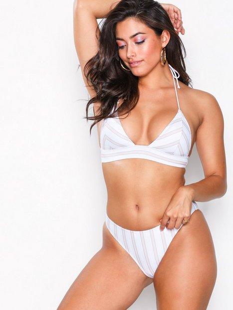 Billede af Missguided Tonal Stripe Bikini Set Helt sæt White