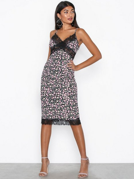 Ditsy Floral Midi Dress - Missguided - Black - Partykleider ...