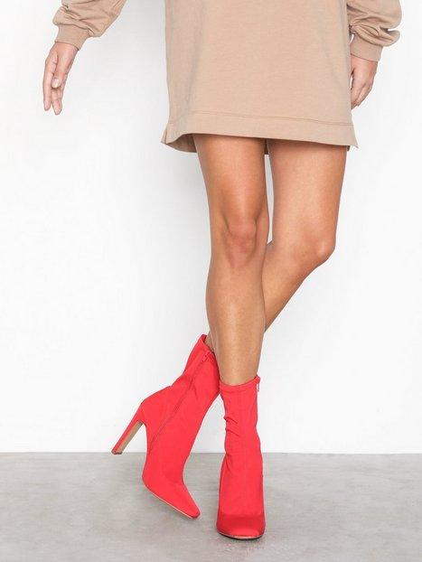 Missguided Square Toe Illusion Heel Heel Red