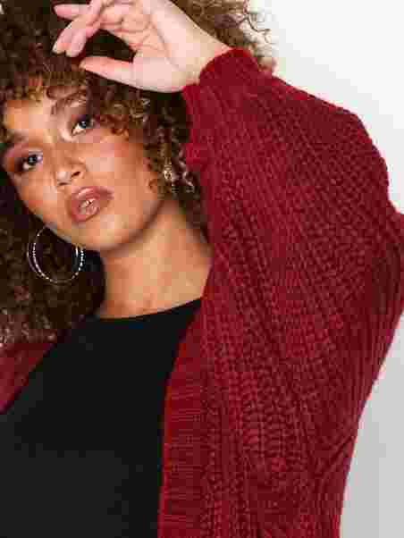 7428ac2dbe708a Oversized Batwing Cable Knitted Cardigan - Missguided - Red ...
