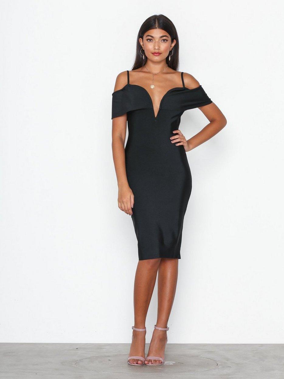 Rib Binding Detail Dress - Missguided - Black - Dresses - Clothing - Women  - Nelly.com 89b23c4c6