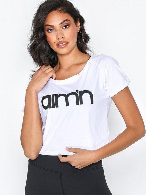Billede af Aim'n Crop T-shirt Top Kortærmet Hvid