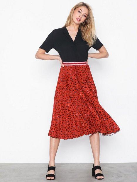 Billede af Closet Leopard Plissé Skirt Midi nederdele