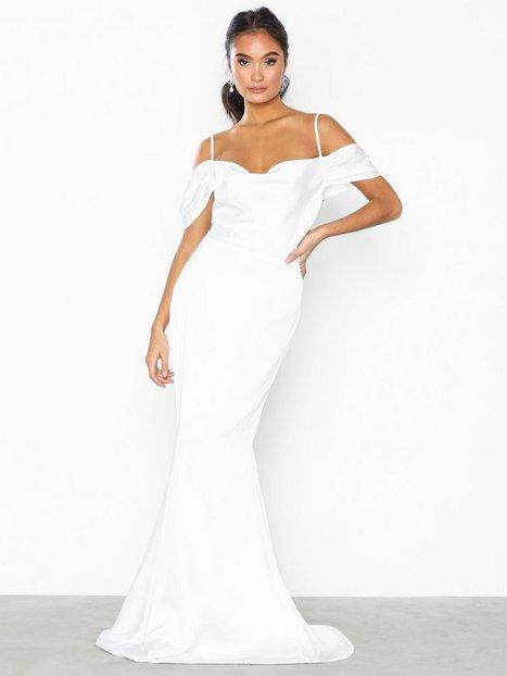 Billede af Missguided Off Shoulder Fishtail Maxi Dress Maxikjoler