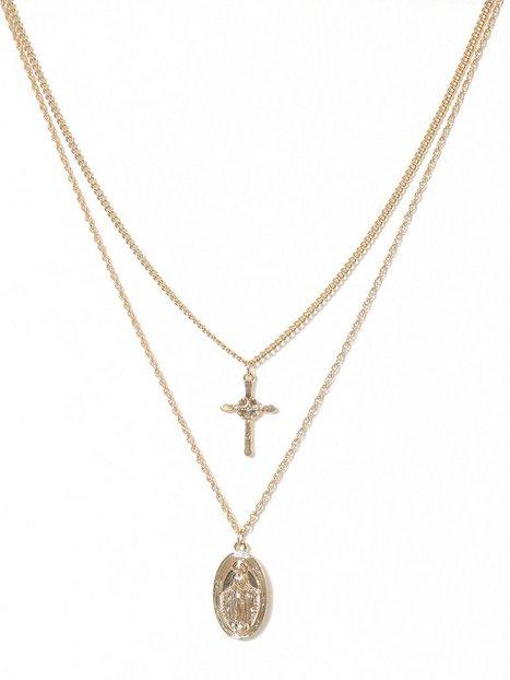 Billede af Missguided Jewelry Coin Cross Halskæde