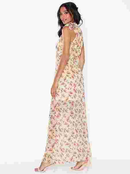 03737f5ea63e6 Floral Neck Tie Maxi Dress, Missguided