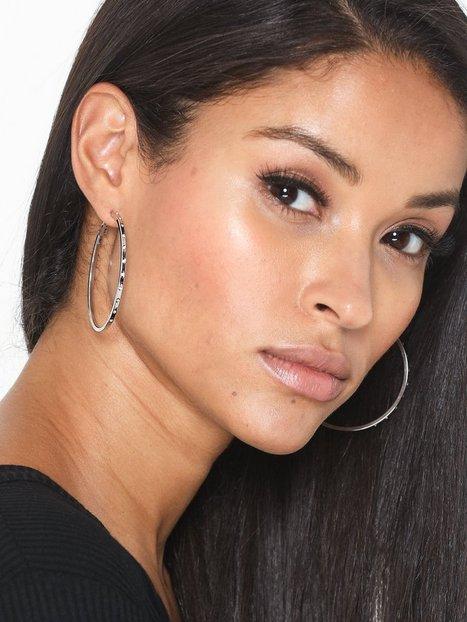 Billede af Missguided Jewelry Diamante Stud Hoop Earrings Øreringe
