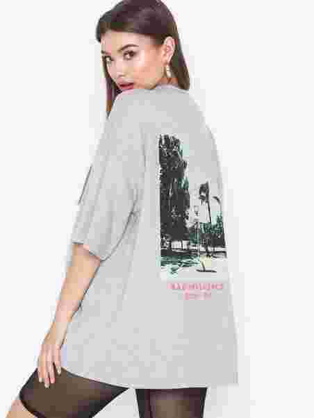 0c9ac367 Bad Influence Graphic T - Shirt - Missguided - Grey - Topper - Klær ...