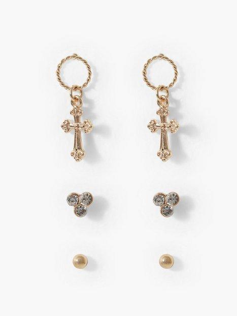 Billede af Missguided Jewelry Cross Earring Multipack Øreringe