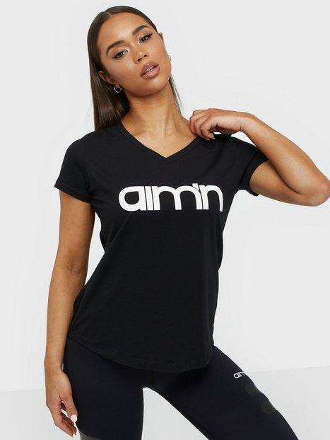 Billede af Aim'n Logo T-Shirt Top Kortærmet Sort