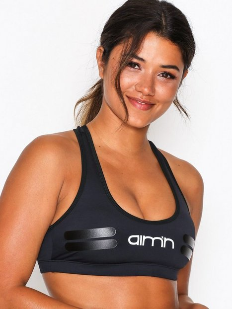 Billede af Aim'n Black Tribe Logo Bra Sports BH Medium Support Sort