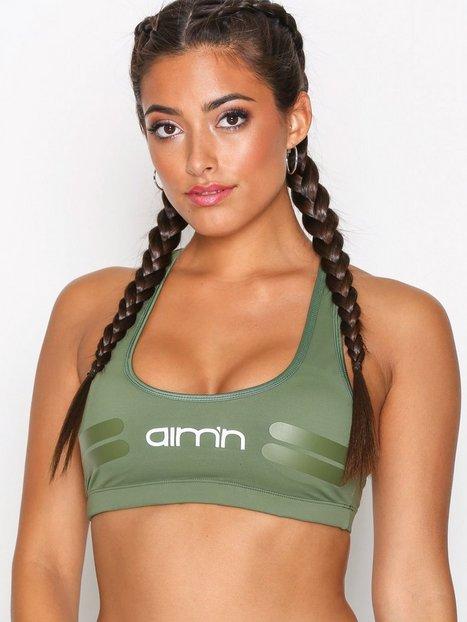 Billede af Aim'n Green Tribe Logo Bra Sports BH Medium Support
