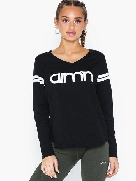 Billede af Aim'n Black Logo Long Sleeve Toppe langærmede
