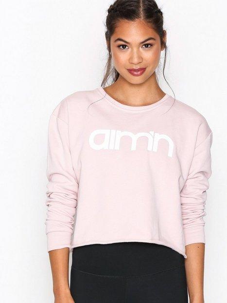 Billede af Aim'n Pink Crop Sweatshirt Sweatshirts Rosa/Lyserød