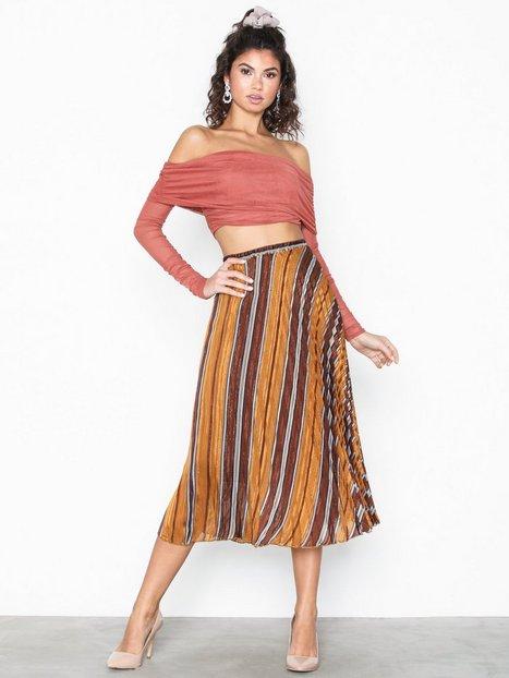 Billede af Neo Noir Fria Lurex Stripe Skirt Midi nederdele