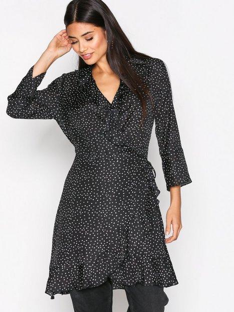 Billede af Neo Noir Fanny Dot Dress Langærmet kjole Black