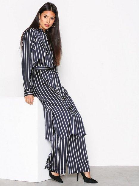 Billede af Neo Noir Chili Stripe Dress Langærmet kjole Marine
