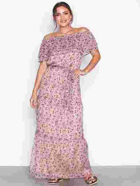 Dress Anna Party Noir Maxi Dresses Neo Printed Cream nTvnWP1