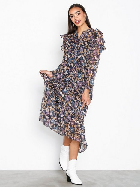 Billede af Neo Noir Isa Flower Dress Langærmede kjoler