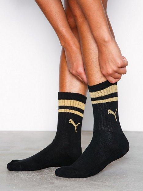 Billede af Puma Crew Heritage Stripe Sock Strømper Sort/Guld