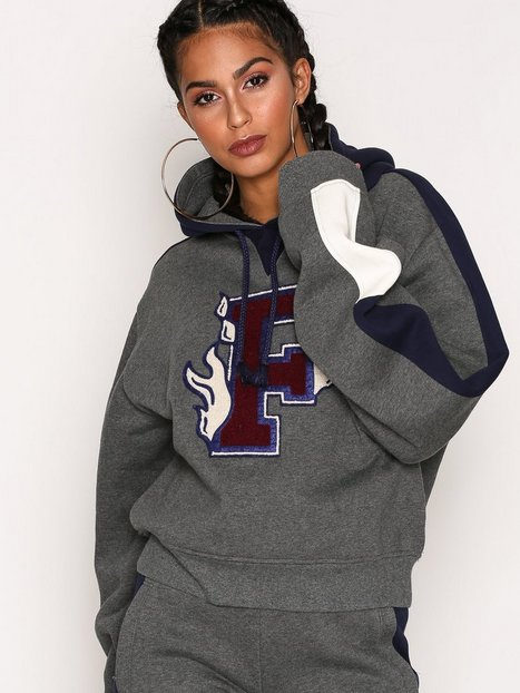 Fenty Puma By Rihanna Hooded Panel Sweatshirt Hoods Grå thumbnail