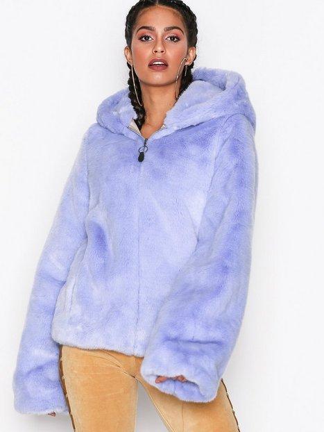 Billede af Fenty Puma By Rihanna Faux Fur Shawl Collar Jacket Faux Fur Lilla