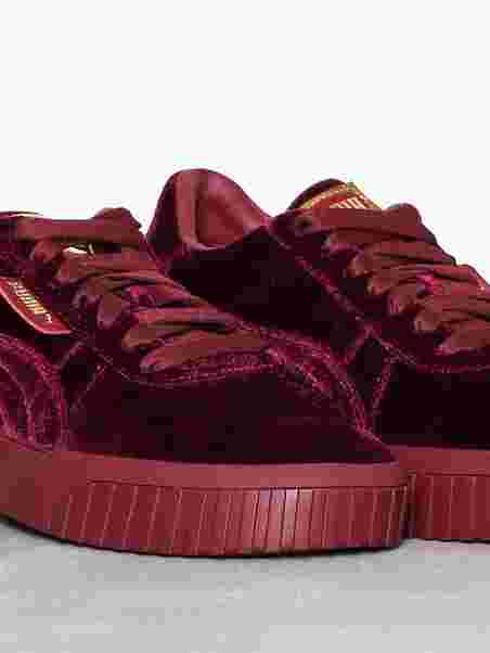 Cali Velvet - Puma - Red - Sneakers - Shoes - Women - Nelly.com Uk ef787a38f