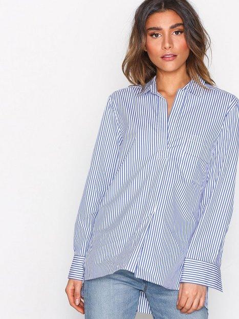 Billede af Filippa K Relaxed Stripe Shirt Skjorte White/Blue