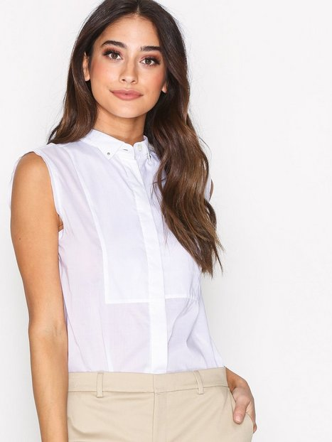 Filippa K Tuxedo Sleeveless Shirt Kauluspaidat White thumbnail