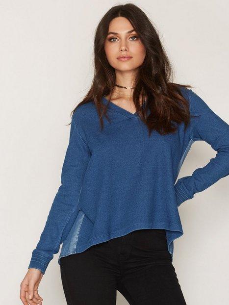 Billede af Maison Scotch Soft Sweat Denim Back Sweatshirt Blue