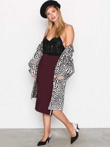Billede af Scotch & Soda Below The Knee Knitted Skirt Midi nederdele Wine