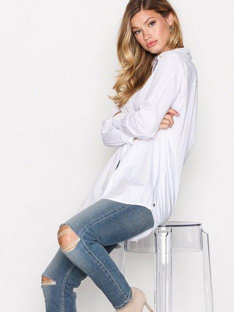 Billede af Scotch & Soda Button Up Boyfriend Shirt Skjorte White