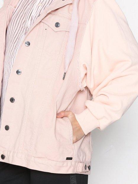 Denim Sweatshirt Jacket