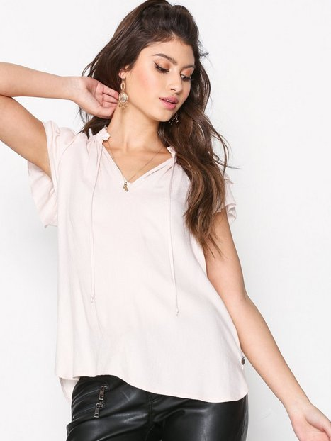 Billede af Maison Scotch Ruffle Sleeve V-Neck Top T-shirt Light Blush