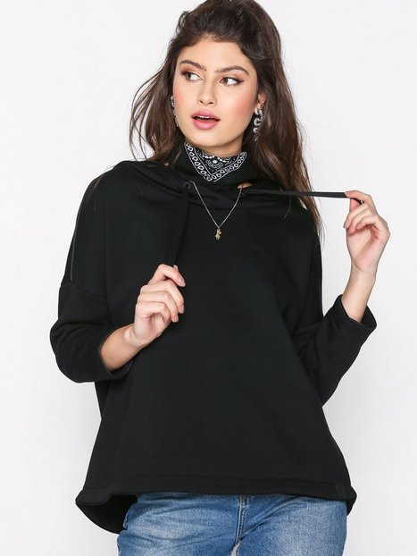 Maison Scotch Boxy Hoodie Club Nomade Hoods Black thumbnail