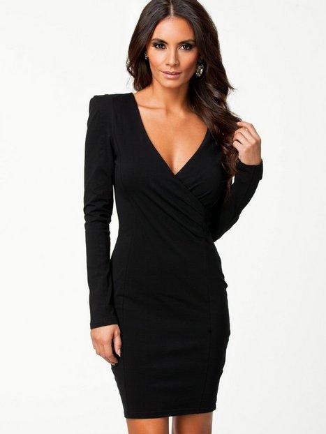 Long Sleeve V Front Dress