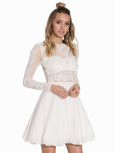 Billede af Ax Paris L/S Lace Skater Dress Skaterkjole Cream