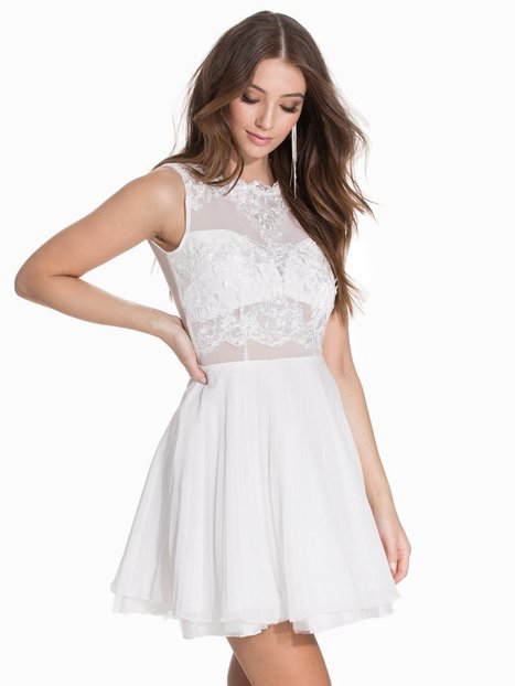 Billede af Ax Paris Sleeveless Lace Skater Dress Skaterkjole Cream