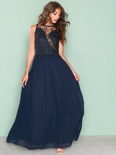 Billede af Ax Paris Lace Detail Dress Maxikjole Marine