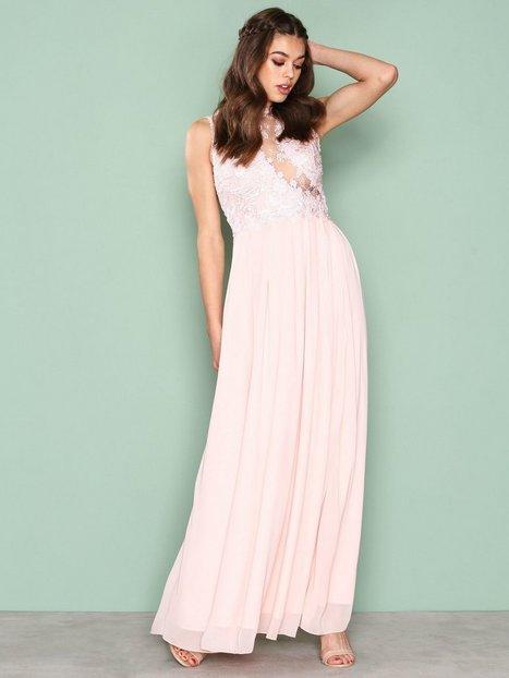Billede af Ax Paris Lace Detail Dress Maxikjole Pink