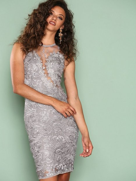 Ax Paris Dreamy Lace Dress Kotelomekot Grey thumbnail